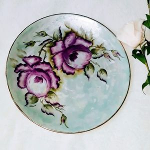 VTG hand painted plate